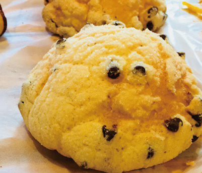 チョコチップメロンパン みさとのパン工房SAKURA